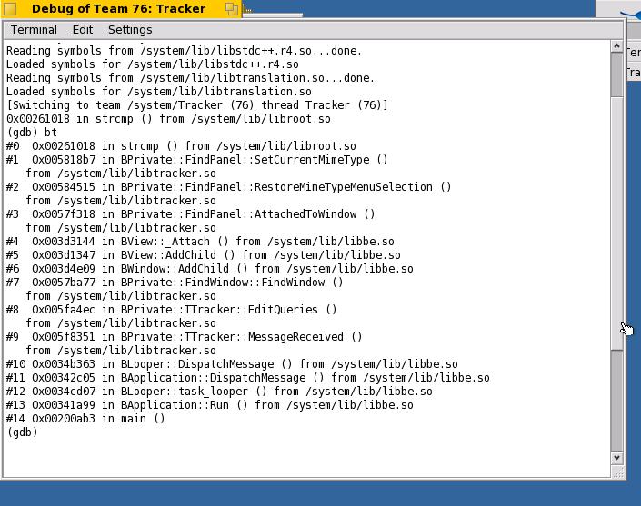 138 editing querys is crashing the tracker haiku