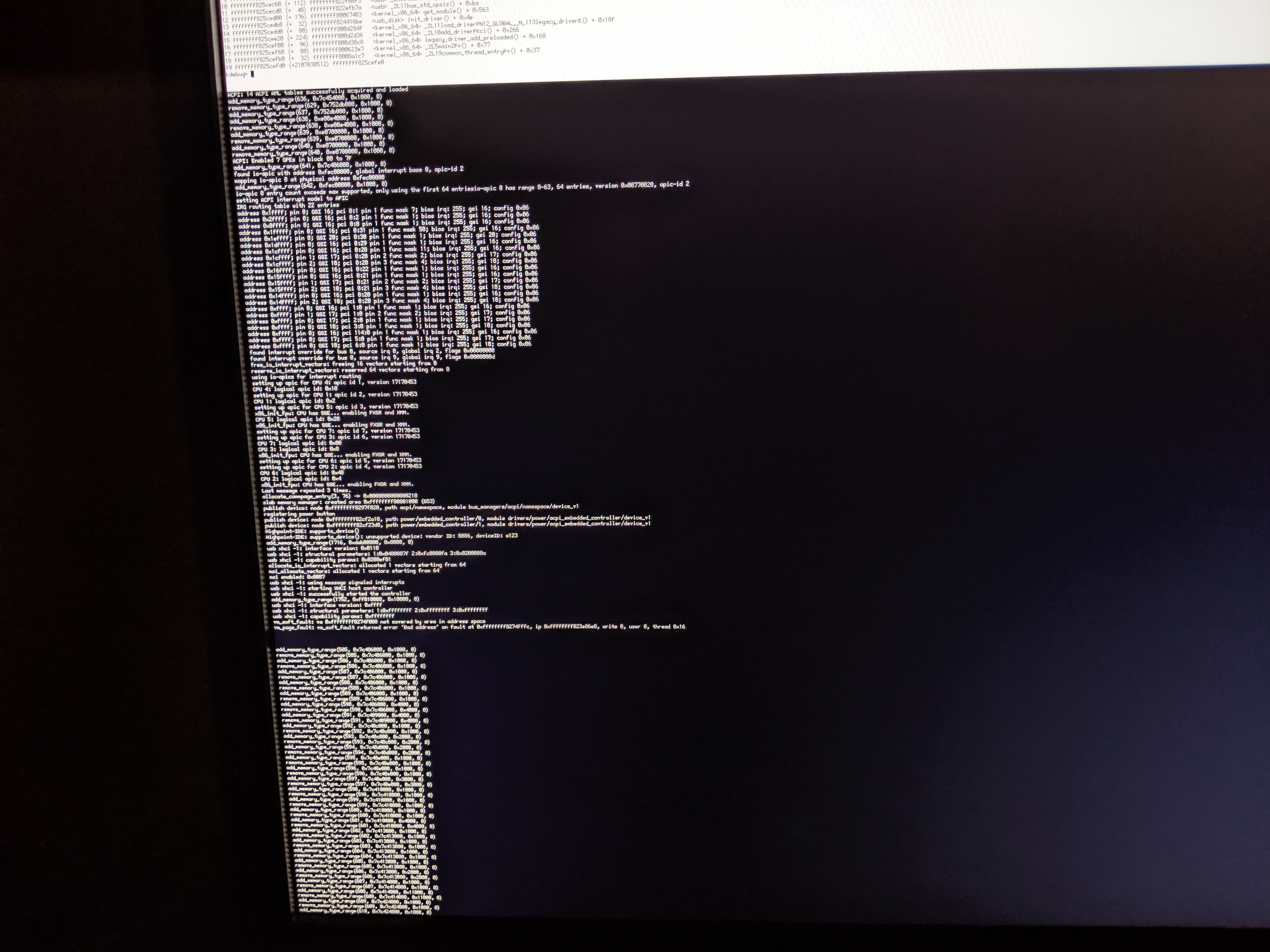 14557 (KDL when booting on Intel