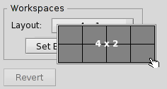 Setting the workspace layout