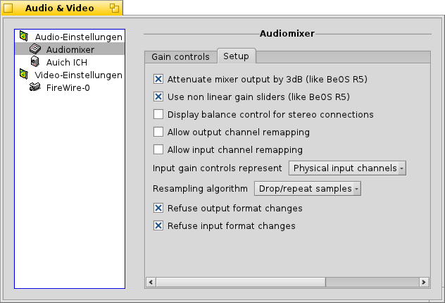 Not localized audio mixer settings.