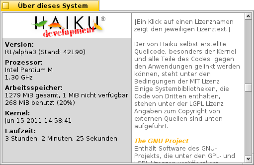 Screenshot of patched AboutSystem (German localization).
