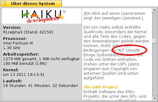 Link to MIT licence in AboutSystem (german localization).